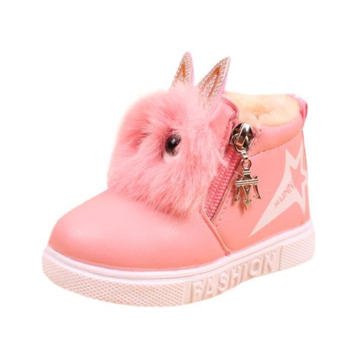 BOTTE Enfants Mode Garçons Filles Sneaker Bottes Enfants Chaud Bébé Casual Chaussures@RougeHM fE4vh