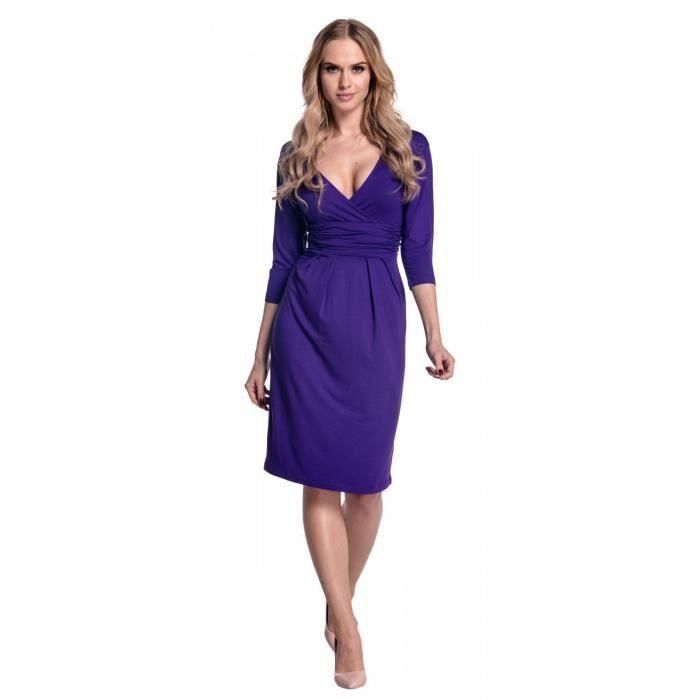 Jersey femmes Wrap encolure en V Robe fourreau à plis. 001 2JCMN6 Taille-34