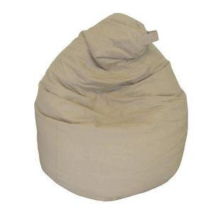 POUF - POIRE Poire pouf en coton LANA Ø75x110 cm taupe
