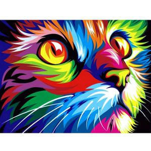 TABLEAU - TOILE 5D diamant chat broderie peinture animal strass cr
