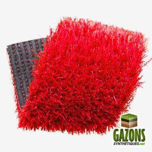 gazon artificiel rouge