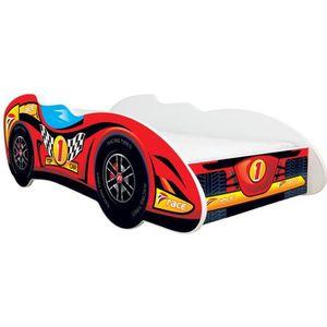 BOUT DE LIT Lit auto Formule 1 - TOP CAR + matelas