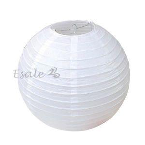 Lampion papier blanc achat vente lampion papier blanc for Lanterne japonaise de jardin pas cher