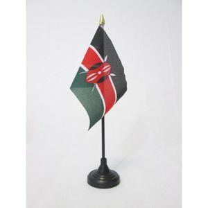 Petit Drapeaux DE Bureau Kenyan 14 x 21 cm AZ FLAG Drapeau de Table Kenya 21x14cm