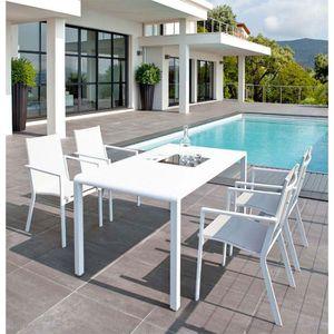 Table et 4 fauteuils de jardin Hespéride PETRA - Achat / Vente salon ...