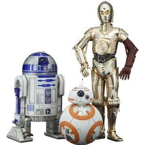 FIGURINE - PERSONNAGE Pack de 3 statues Star Wars - C-3PO- R2-D2 et BB8
