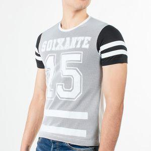 T-SHIRT T-shirt Noir filet blanc Cabaneli - CBTSH75N