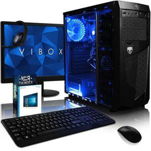 UNITÉ CENTRALE + ÉCRAN VIBOX Vision Pack 2SLW PC Gamer - AMD 2-Core, Rade