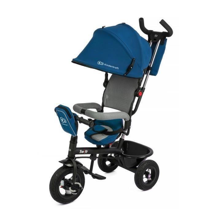 SWIFT TRICYLE BLEU 3 roues Enfant bébé de 1 à 5 ans poussette évolutif