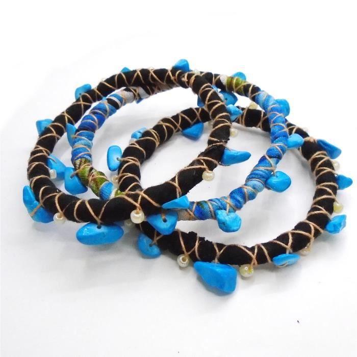 Womens Bohemian Bangle Bracelet Set M3A45