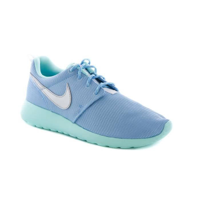 BASKET Basket Nike roshe run junior bleu turquoise et sem