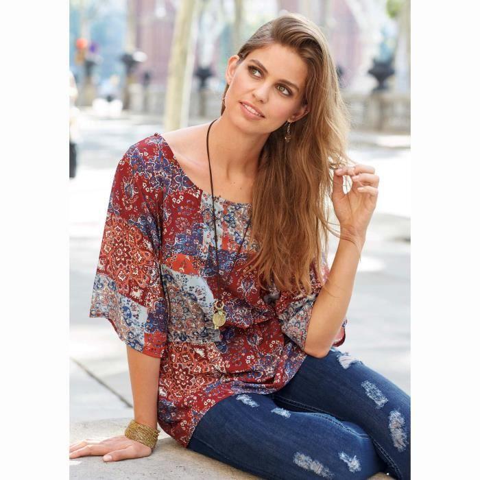Blouse chemisier boheme achat vente blouse chemisier boheme pas cher cdiscount Vetement femme style boheme astuces