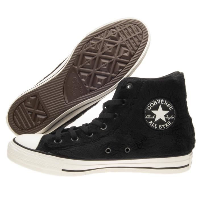 Baskets Converse Chuck Taylor All Star Hi Noir Noir - Achat   Vente ... 2786b73e1a9e
