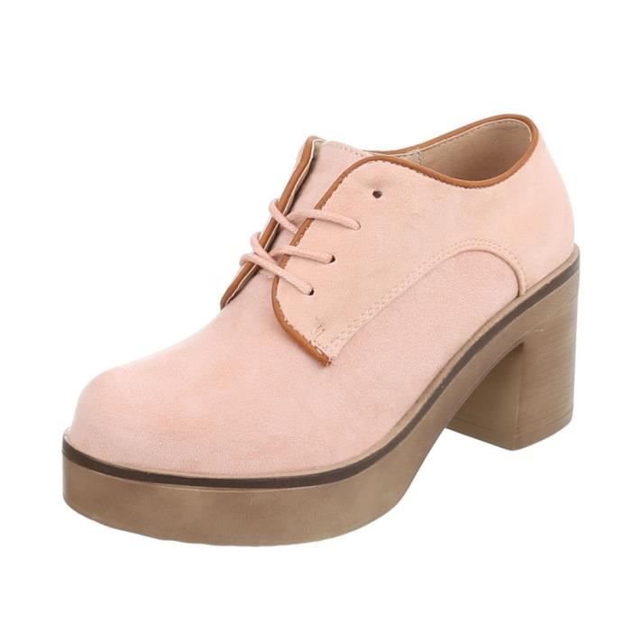 neurs La noir Plateau Fl Le Marron 41 Femme age Chaussures Vert bleu beige Rose qwgA6FZE