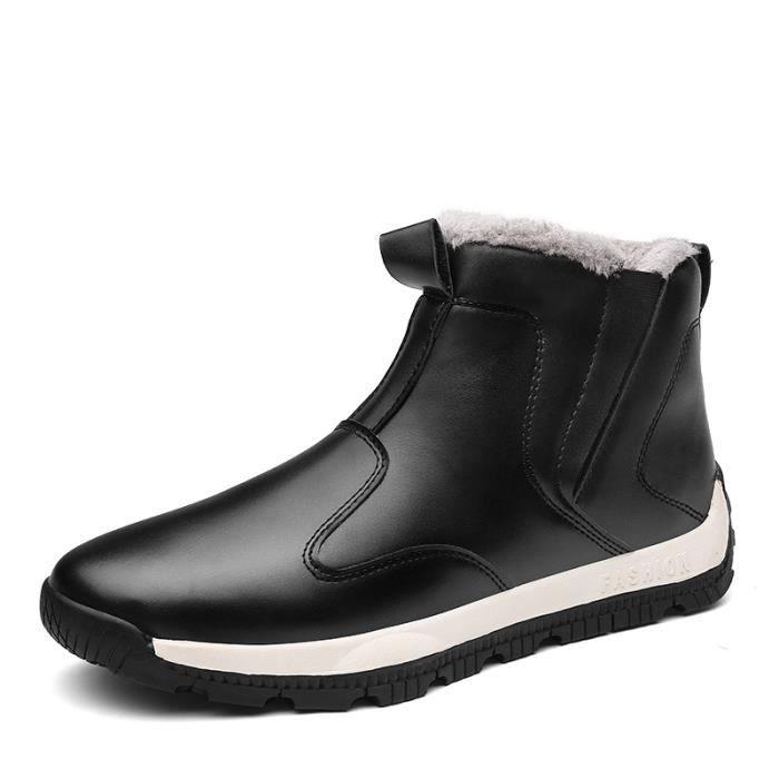 Velours Air Chaussures En Hiver D'homme Casual Plein Épais Coton Neige Bottes Nouveaux De Luxe WvAfqwYqp
