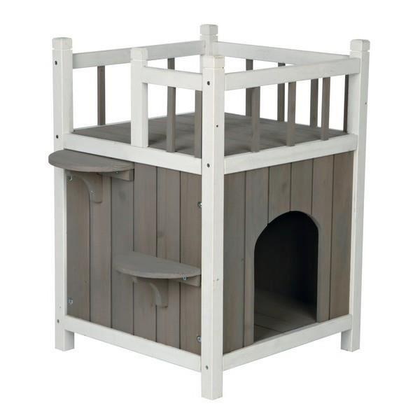 maison pour chats avec balcon achat vente maison de. Black Bedroom Furniture Sets. Home Design Ideas