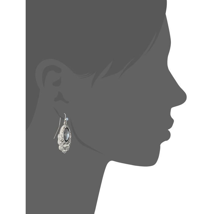 1928 Jewelry Gabriella Basic Faceted And Filigree Drop Earrings WHISJ