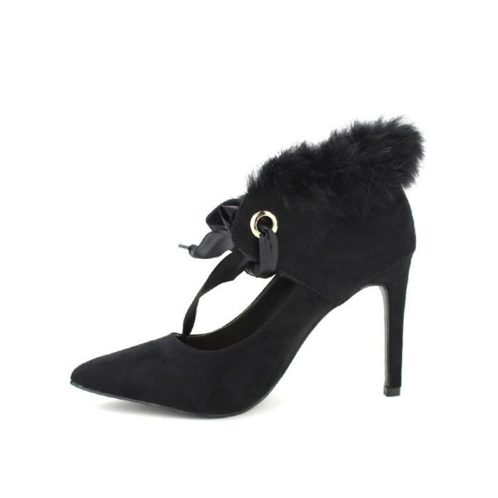 escarpin, Escarpins Noir Chaussures Femme, Cendriyon