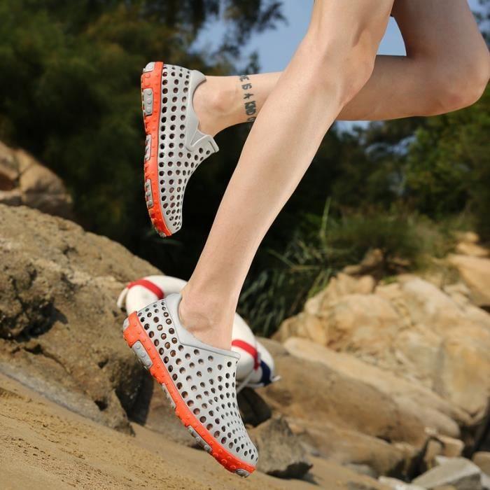 5 grande Couleur taille gris de sport Homme d'étéChaussons chaussures taille9 4 multisport Plage O1Hqaw7g