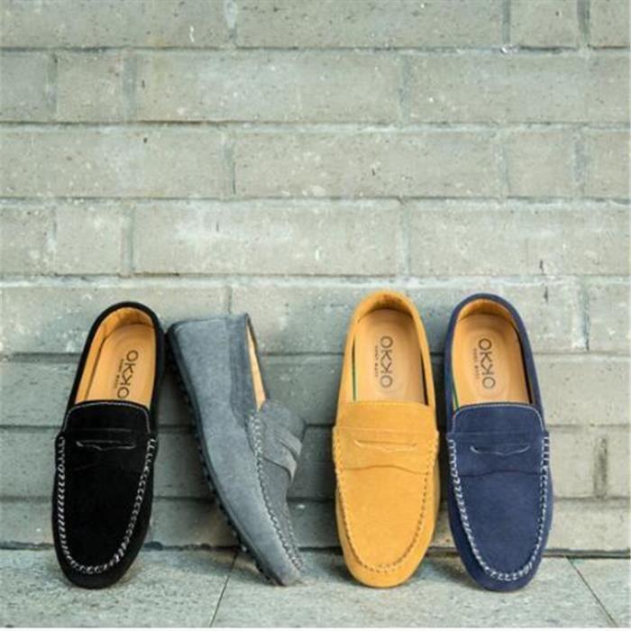 Homme Mocassin Marque Chaussures décontractées Qualité SupéRieure Chaussures Plates chaussures de conduite Respirant Plus LLkUVAQs