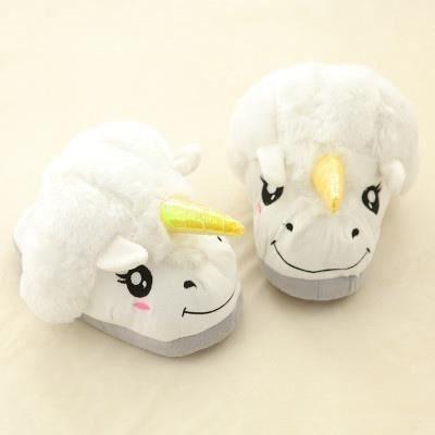 New Winter Indoor Pantoufles en peluche Accueil Chaussures Unicorn Chaussons pour Grown Survêtement Unisex Pantoufles GAPtewdJ4F