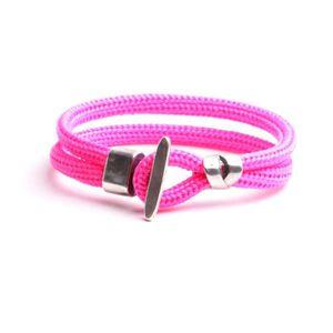BRACELET - GOURMETTE Bracelets femmes cordon souple rose  fermoir bijou