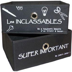 BOITE DE RANGEMENT Set de 2 tiroirs petit modèle KZABOX Imprimé