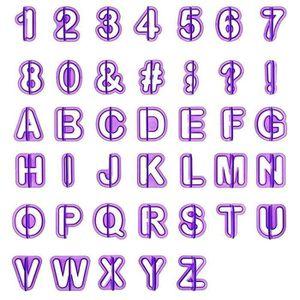 EMPORTE-PIÈCE  cd*40pcs Emporte Pièce Lettres Alphabet Nombre Déc