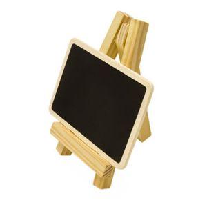 DÉCORATION DE TABLE Chevalet en bois avec ardoise - 10 x 6 Cm