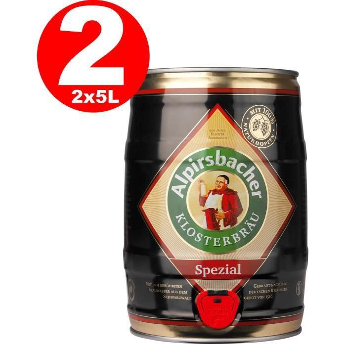 2 x alpirsbacher fut de biere special - 5 litres 5,2% vol. - achat