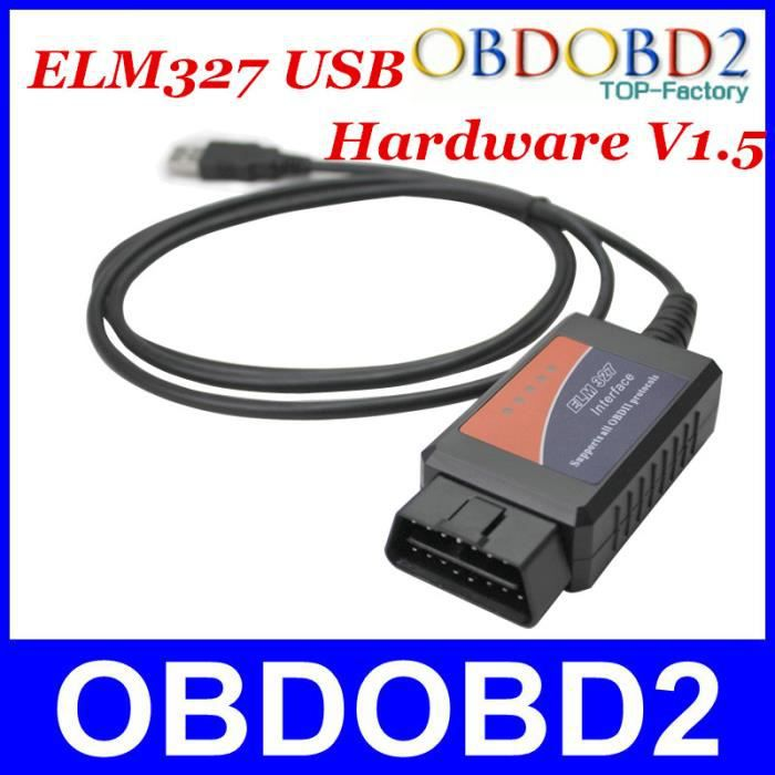 Code automatique Lecteur ELM327 Câble USB en plastique V1 5