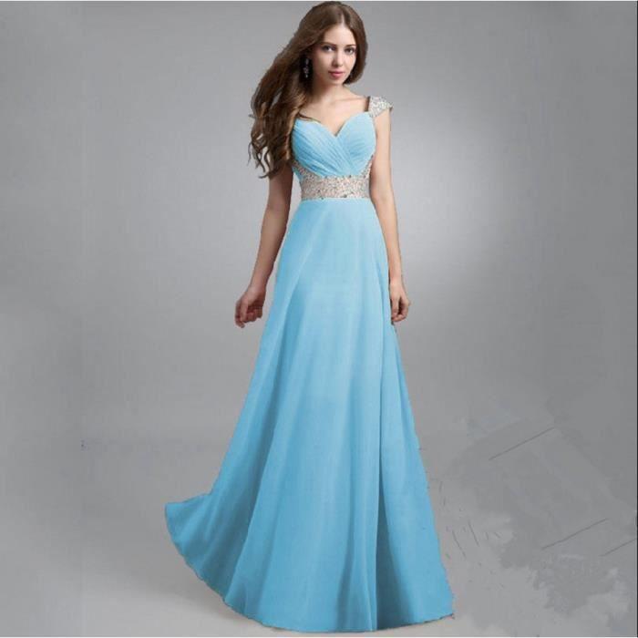 Robe de soirée cocktail Classe robes bleu