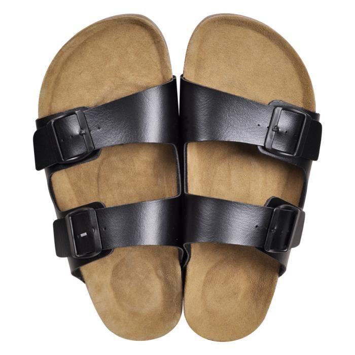Nos sandales branchées disposent de premières de propreté en suède de vache, de semelles de soutien en liège absorbant les chocs ...