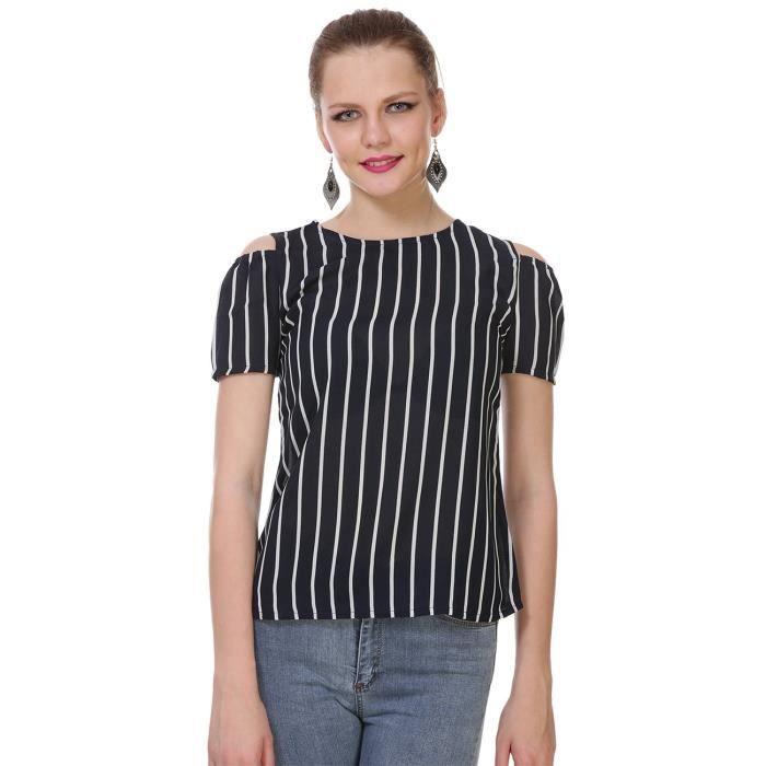 42 Taille Noir blanc C5M5T Haut Femmes polyester Doublure et f1wqq8Z