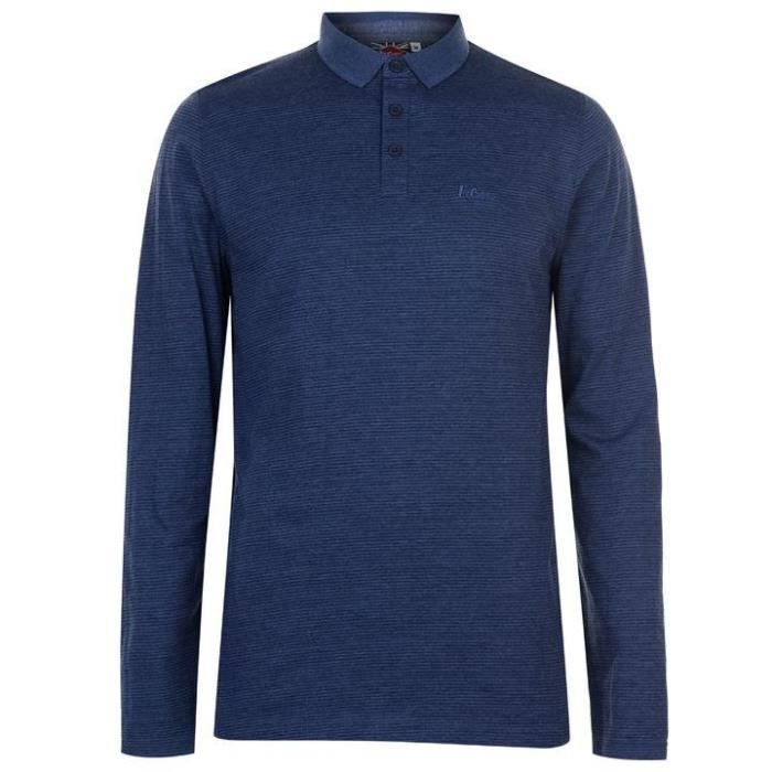 Longues Polo Rayures Cooper Bleu Homme Lee Manches doWrCxeB