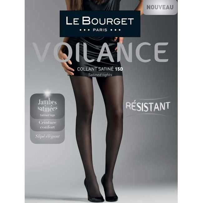 entire collection good coupon codes LE BOURGET Collant Voilance Satin
