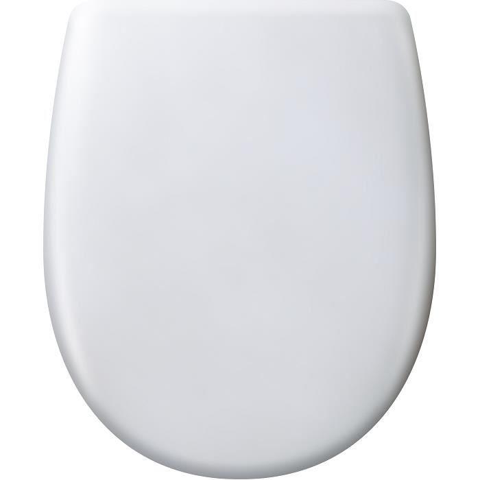 l'abattant de toilette ariane est déclipsable, avec ou sans