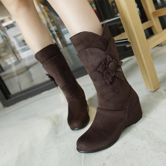 martin boots-Pure Color Wedge Heel ronde Bottes...