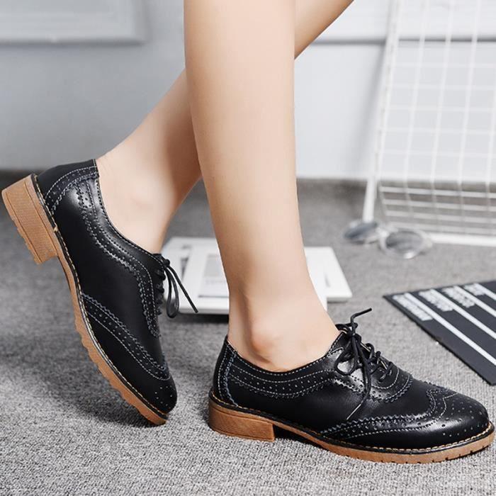 chaussures multisport Mixte pour dames Vintage Voir mince en cuir véritable Casual beige taille6.5