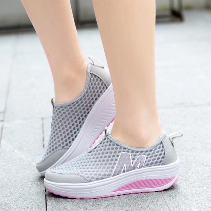 Femmes chaussures sport chaussures de sport printemps respirant mesh swing chaussures de qualité supérieure