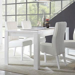 Table Salle A Manger Laque Blanc Achat Vente Pas Cher