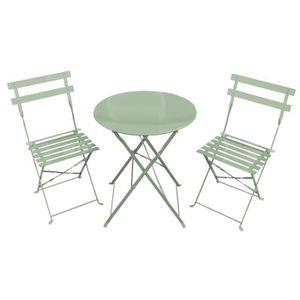 SALON DE JARDIN  Salon de jardin style bistro - 3 pièces : table ro