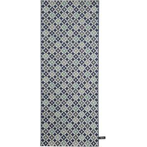 COUVERTURE - PLAID Tapis de couloir cuisine Capri Bleu 80x200 cm - Ta