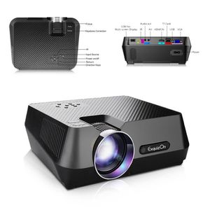 Lampe vidéoprojecteur ExquizOn GT-S9 Vidéoprojecteur Portable LED 1800 L