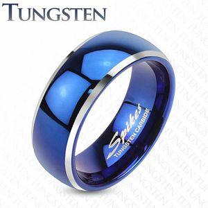 BAGUE - ANNEAU Bague tungstène homme bleue (67 (Circonférence : 6