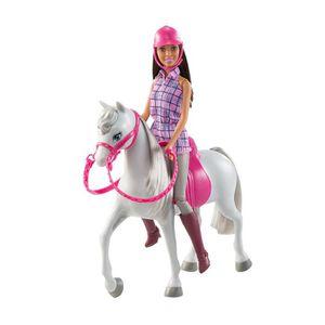 POUPÉE MATTEL Poupée Barbie et cheval U6IB7