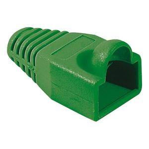 CÂBLE RÉSEAU  Manchons vert diam 6,5 mm (sachet de 10 pcs)