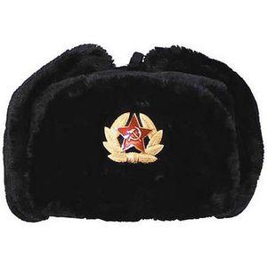 BONNET - CAGOULE Véritable Chapka Noire Russe Grand Froid 59bb230f410