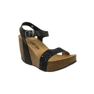 Sandales et nu-pieds Vert en Cuir Plakton - Soldes zaWfShcOc