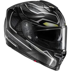 CASQUE MOTO SCOOTER HJC RPHA 70 BLACK PANTHER MC5SF